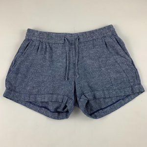 Old Navy Chambray Blue Linen Blend Shorts M